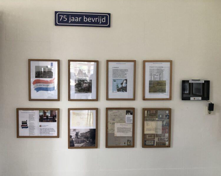 Foto's boven en onder: Expositie 75 jaar bevrijd