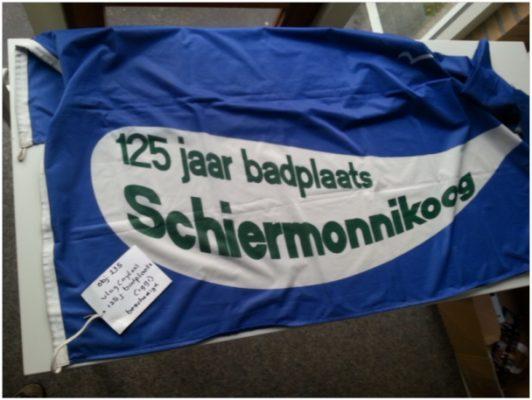 Vlag 125 jaar badplaats