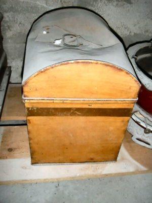 Grote koektrommel met handvat (bakkerswinkel)