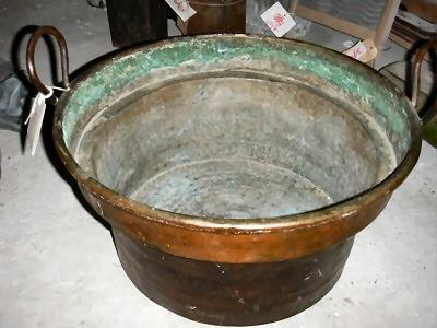Grote koperen  bak met 2 handvatten
