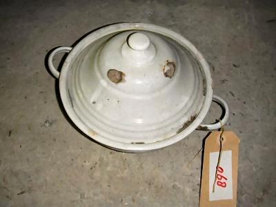 Aardappelschaaltje met deksel (email)