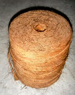 Klos geel touw