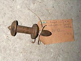 Haspeltje voor schietlood (hout)