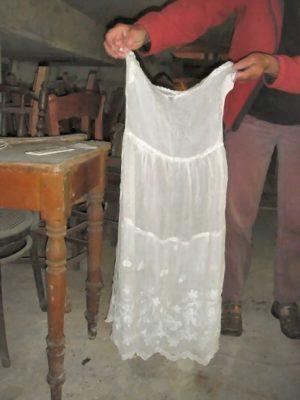 Onderkleding ong 1880 van grootmoeder mevr. R Weldring