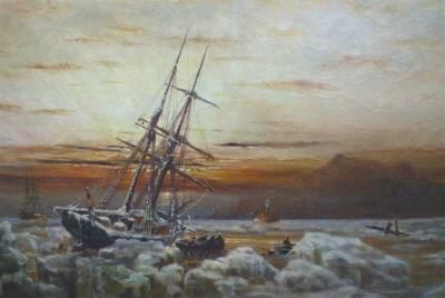 Een schilderij geschilderd door Teen Fenenga.