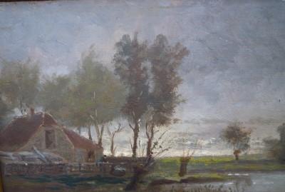 Schilderij van de eilander schilder Teen Fenenga (Kapeglop)