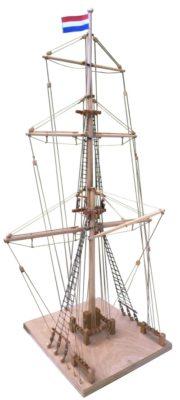 Model van de tweede zeevaartschoolmast