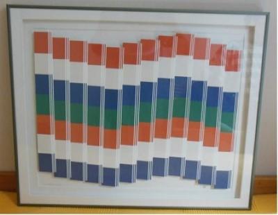Eilander vlag gemaakt van passe – partout (karton)