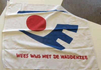 Vlag Wees wijs met de Waddenzee