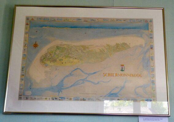 Kaart van Schiermonnikoog door Marlous Terwiel