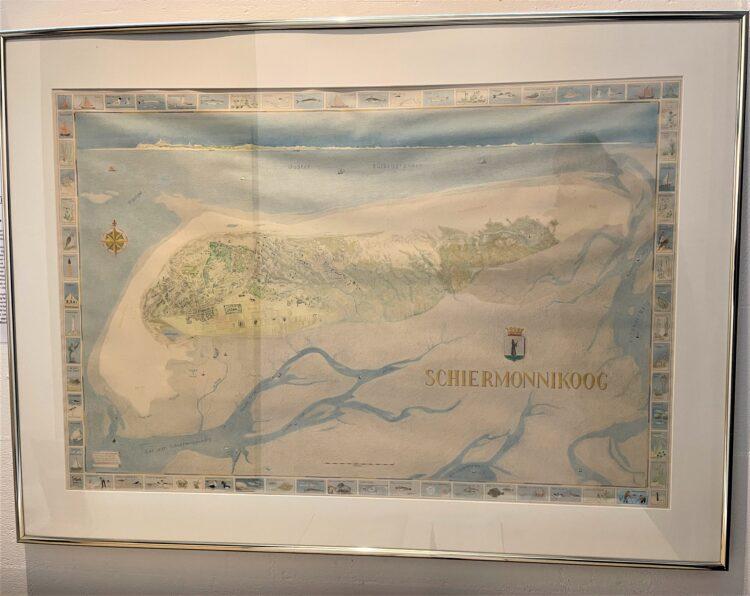 Deze rijk geillustreerde kaart is gemaakt door de cartografe Marlous Terwiel en werd aangeboden door nazaat Iain Bruinvis en ter nagedachtenis aan Anne Kruisinga (1953–2016), dochter van Marten Kruisinga (zeevaarder en geboren op het eiland) en Betty Taylor.