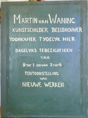 Mededelingenbord Martin van Waning