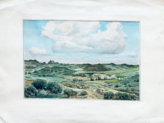 Drie aquarellen van Geert Draaijer