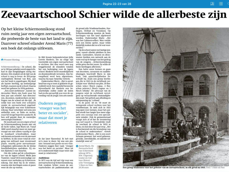Friesch Dagblad 30 april