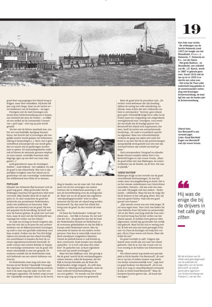 Uit Dagblad van het Noorden/Leeuwarder Courant 2-1-2021