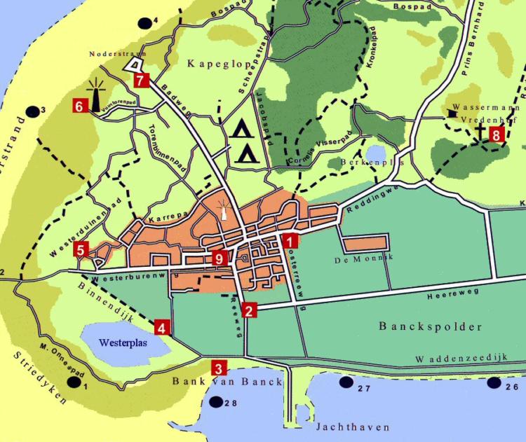De locaties van de taalstenen